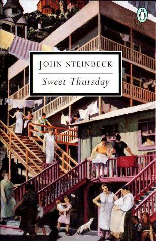 "Sweet Thursday: a book review Let's play word association. John Steinbeck, go. East of Eden.Grapes of Wrath.Of Mice and Men. If you're a major Steinbeck fan, you just might say Cannery Row. And if you say Cannery Row, you just might be interested in its sequel Sweet Thursday. Set in Monterey on the California coast, Sweet Thursday is what they call the day after Lousy Wednesday, which is one of those days that are just naturally bad. Returning to Cannery Row (a dinghy neighborhood with junk heaps & weeds), John Steinbeck brings back most of the same characters for new adventures. Reuniting with Mack, Doc and Hazel made me laugh out loud on several occasions (a good sign), and I ended up underlining a lot of passages from the book (another good sign, I love me some underlinable sentences). Steinbeck writes in such a way that you have to re-read certain sentences because they're at once so simple yet resonate such truth: ""It is a common experience that a problem difficult at night is resolved in the morning after the committee of sleep has worked on it.""""When people change direction it is a rare one who does not spend the first half of his journey looking back over his shoulder.""""There's a hole in reality through which we can look if we wish.""""These things, however, are known about greatness: need gives it life and puts it in action; it never comes without pain; it leaves a man changed, chastened, and exalted at the same time – he can never return to simplicity."" This is a good book – it's sweet, it's simple, it's light-hearted. Love, happiness and loneliness are central themes with great highs and lows included. There is more humor here than the first book and, perhaps because it is longer, I felt the story was more substantial in some ways, less in others. I recommend it. Perfect for a summer read. -Krista"