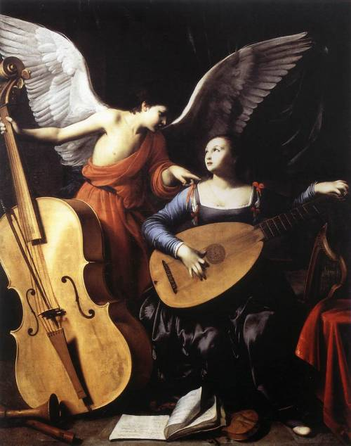 SARACENI, CarloSaint Cecilia and the Angelc. 1610Oil on canvas, 172 x 139 cmGalleria Nazionale d'Arte Antica, Rome