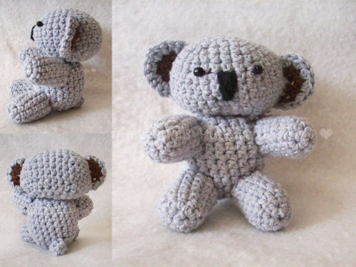 Koala Bear Tamaño/Size: 8 cms Galería + info Soon i'll be posting the pattern source! ♥