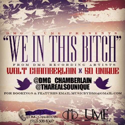 DMG presents … #WeInThisBitch @chamBURRlain and @tharealsounique !! #Progress (Taken with Instagram)