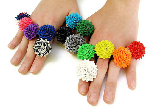 couturecourier:  Duct Tape Rose Rings by QuietMischief - Woah, Intense!!