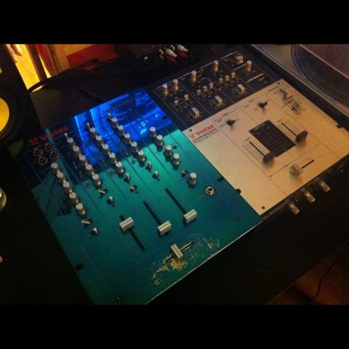 Currently selling Dj Mixer!! Vestax PCV 175 (on the left) for $50.00 flat. Best deal you can get anywhere for a DJ mixers its taking up space and I'm moving soon. So tell your friends if they're in need of a mixer! #dj #vestax #nofilter  (Taken with Instagram)