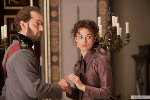 "Keira Knightley and Jude Law in Joe Wright's ""Anna Karenina."""