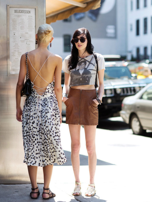 Two cool brunch outfits… Sartorialist