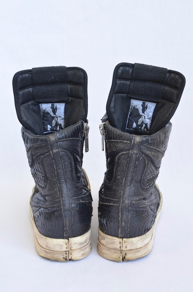 trailsoflight:  Rick Owens Snakeskin Sneakers