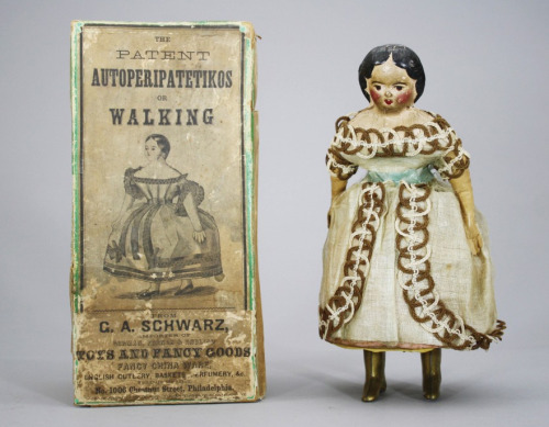 vicfangirlguide:  A clockwork doll from the 1860s. Dolls of this type were known as 'Autoperipatetikos' meaning 'the automatic walking one' and were amongst the first ever walking toys to be produced.