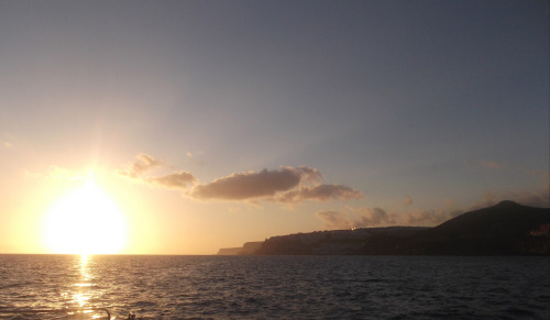Sunset off the coast of Gran Canaria! <3