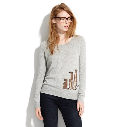 Um, who doesn't need a meerkat sweater in their wardrobe?