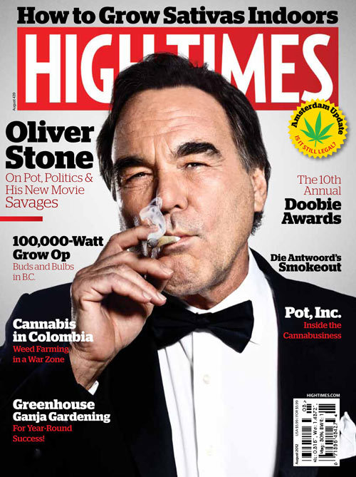 laughingsquid:  Oliver Stone Smoking A Joint on the Cover of High Times Magazine