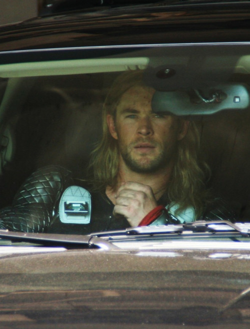"I can't decide what bad god+car joke I want to make the most, if ""Thor, take the wheel!"" or ""Thor is my co-pilot."""
