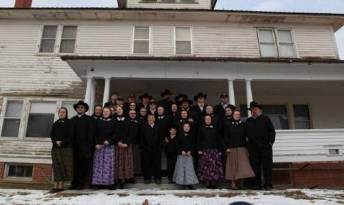 "When I was a kid in South Dakota, Hutterites would occasionally come to the door looking to sell produce, mow the lawn, mend fences, whatever they could do for some money. I didn't talk to them much, but my friend Leif from down the road knew a bunch of them and said they were basically normal. ""Normal"" by the standards of people who live in South Dakota, that is."