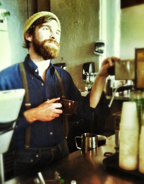 thesquatingsasquatch:  Bearded Barista. LOVE.