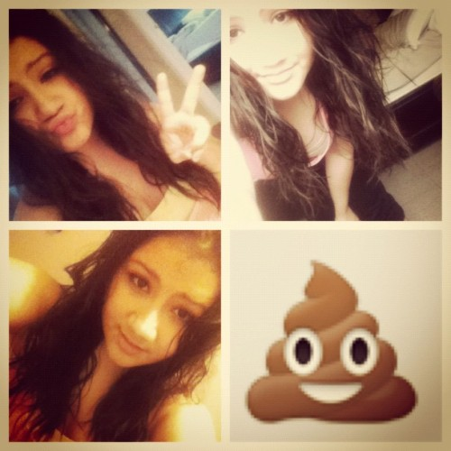 Here's a collage of pictures of my face that looks like poop. (Taken with Instagram)