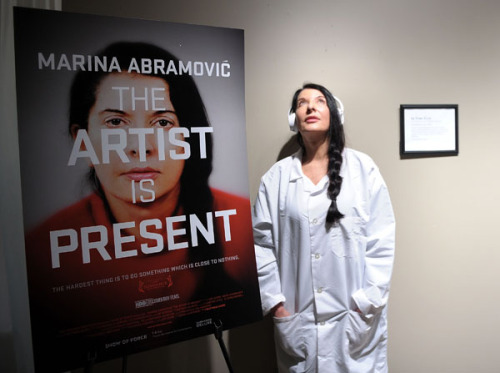 sundancearchives:  Marina Abramović attends the 2012 Sundance Film Festival in support of Matthew Akers' film Marina Abramović The Artist Is Present, which opens in select theatres this week.Photo by Michael Loccisano/WireImage