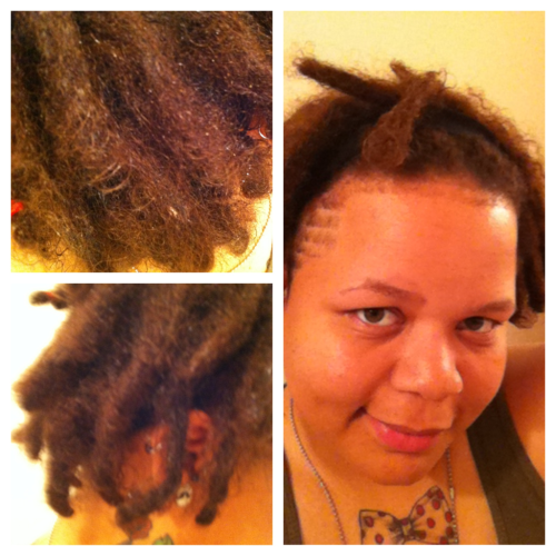 Me and my 3 month locs today after a hot oil treatment and shape up