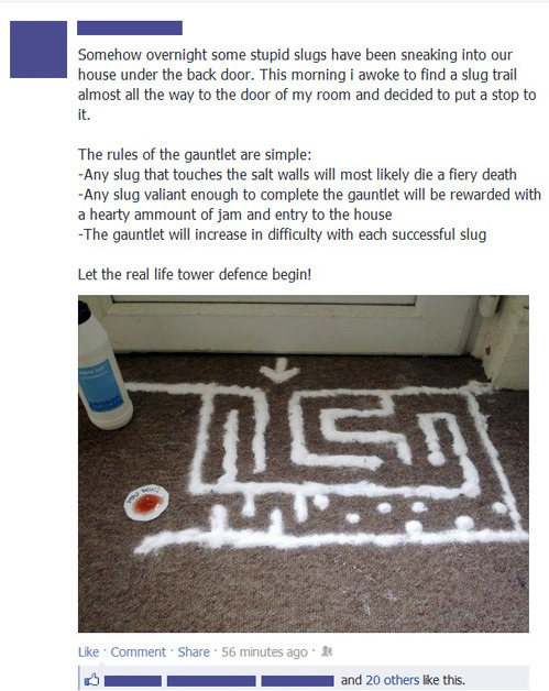 tastefullyoffensive:  May the best slug win.[via]