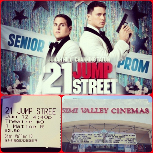 "Movies Time wit My Mom Gonna See ""21 Jump Street"" 🎥📺😏 starring @ChanningTatum & #JonahHill #21JumpStreet #ChanningTatum #BrieLarson #DaveFranco #DeRayDavis #IceCube #DominicTazAlexander #DominicAlexander #Comedy #Movie #Theater #SimiValley  (Taken with Instagram at Simi Valley 10 Discount Cinemas)"