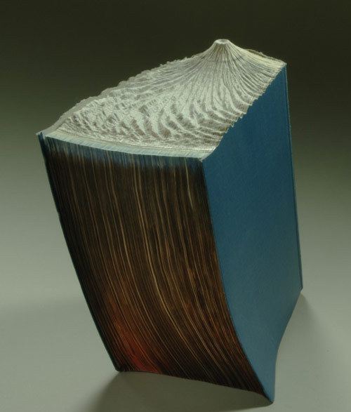 booooooom:  More INCREDIBLE carved book landscapes by Guy Laramee.