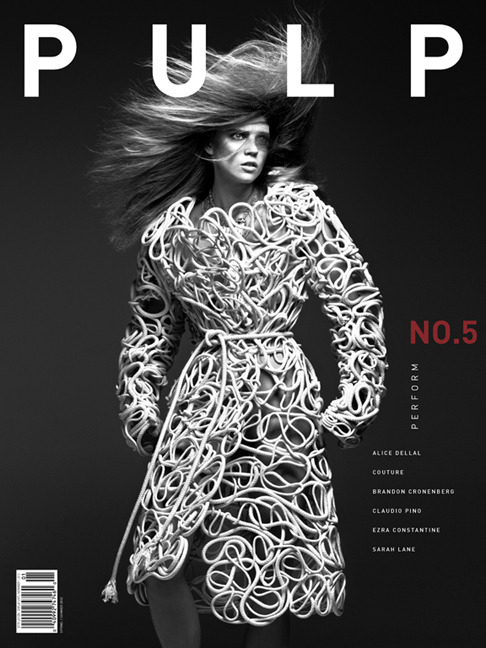 PULP No.5 - The Performance Issue is here ! Cover photographed by ishi at Artware Management Paris Fashion editor : Juliana Schiavinatto Makeup : Tatsu Yamanaka at Marie France Agency Hair: Jean-Luc Amarin at Airport Agency Model : Masha Novoselova at Marilyn Agency