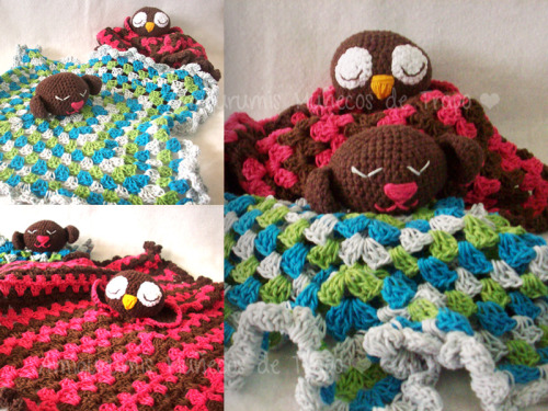 The pattern for this cute baby blankets with amigurumi heads HERE ♥  My gallery + info Enjoy