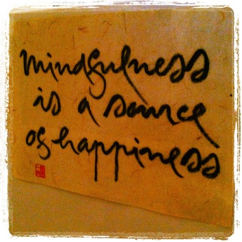 lifeyogakingston:  Mindfulness is a source of happiness (Taken with Instagram)