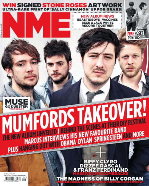 Mumford & Sons on the cover of the 16th June 2012 issue of NME Magazine. Click here to read all parts of the feature article! Click to zoom and enjoy!