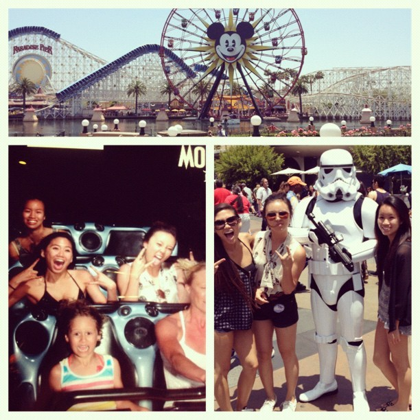 Disneyland trip with these two! Hot+sweat+crowded=hell🔥. But so worth it✌ @ktpooo #jennifernguyen #disneyland #happiestplaceonearth #summer #hot #goodvibes #bestfriends #funday #sorefeet #stormtrooper #pictures #memories  (Taken with Instagram)