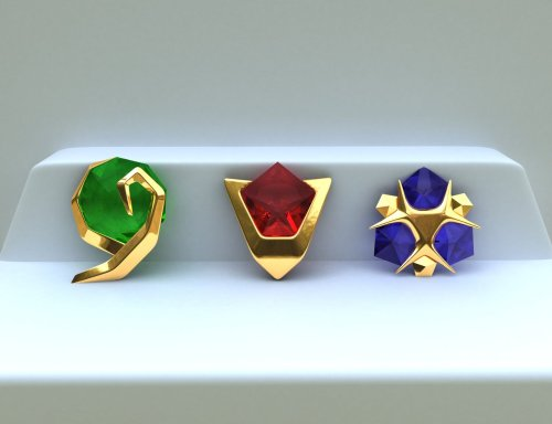 saveroomminibar:  The Legend of Zelda: Ocarina of Time. Spiritual Stones, digital modeling by DaveAkumu