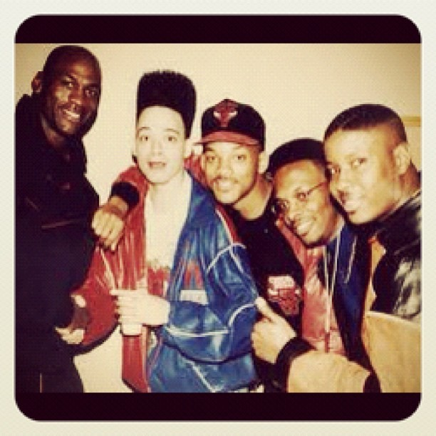 Michael Jordan. [#MJ] Kid & Play. DJ Jazzy Jeff & The Fresh Prince [Will Smith] #Classic #summertime  (Taken with Instagram)