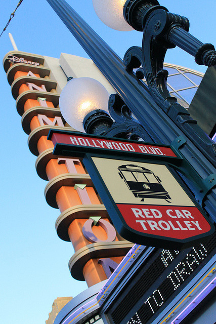fuckyeahdca:  Hollywood Boulevard Red Car Trolley Stop by Loren Javier on Flickr.