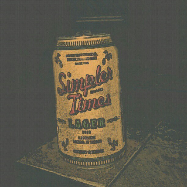 Simpler Times Lager  (Taken with Instagram)