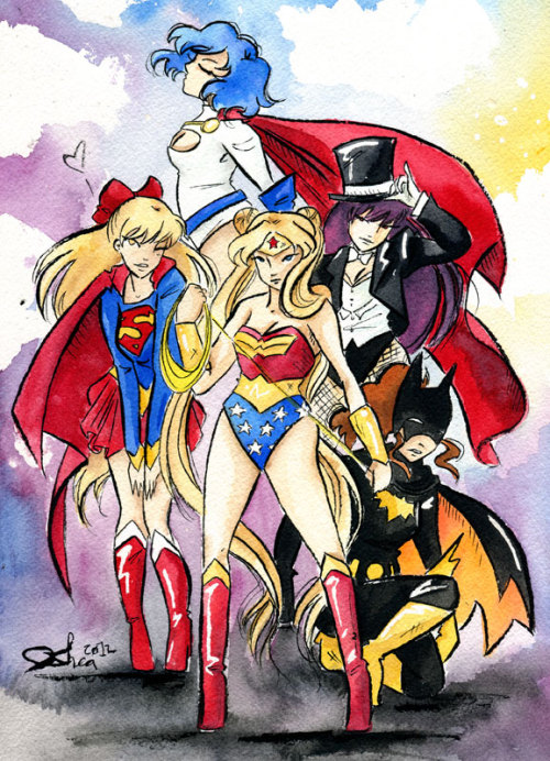 fyeahsuperheroes:  girlsbydaylight:  jsheaisaninja:  Super Sailors  Ahhhh, this is so amazing!  YESSSSSS