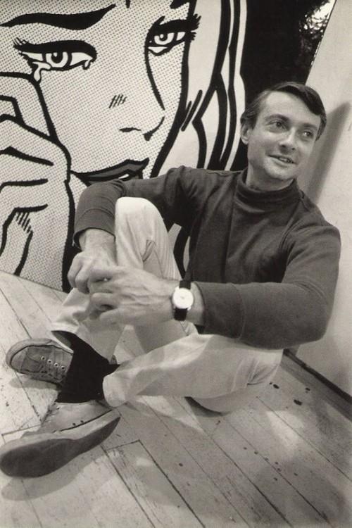theswinginsixties:  Roy Lichtenstein photographed by Dennis Hopper.
