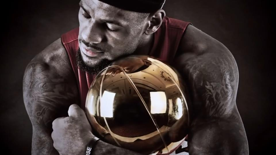 BREAKING: This is what it would look like if LeBron James won the Larry O'Brien Trophy.