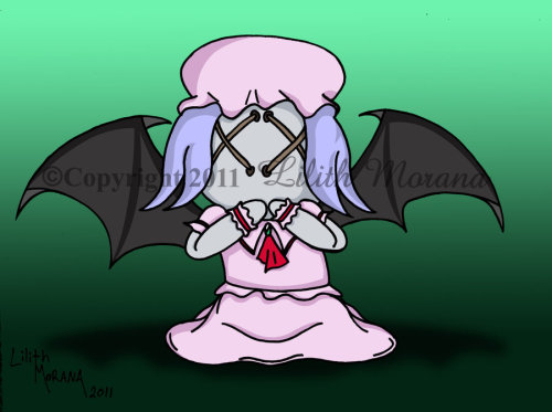 Another one of my Dolls of Damnation, inspired by Touhou, Bat Wings