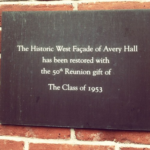 The theatre I am working in is called Avery Hall.  (Taken with Instagram)