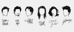 anxiouspineapples:  avengers hair