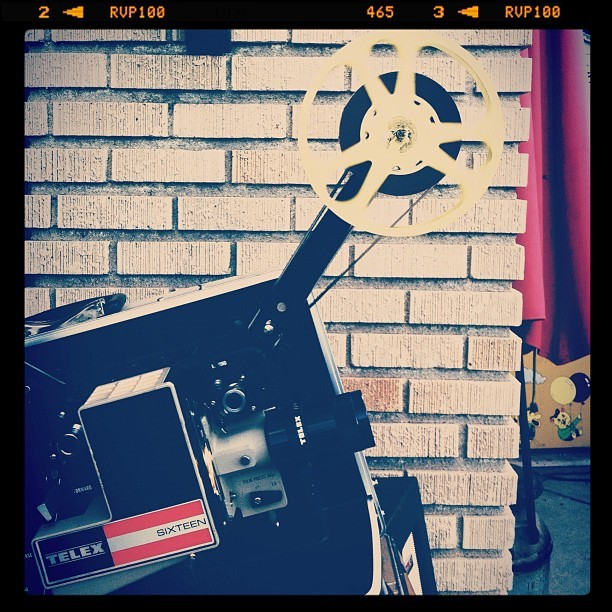 Old School movie night! #denver #colorado  (Taken with Instagram)