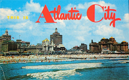 excitingsounds:  This is Atlantic City postcard by Smaddy on Flickr.