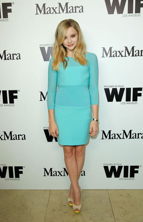 suicideblonde:  Chloe Moretz at Max Mara Honors Chloe Moretz in LA, June 11th
