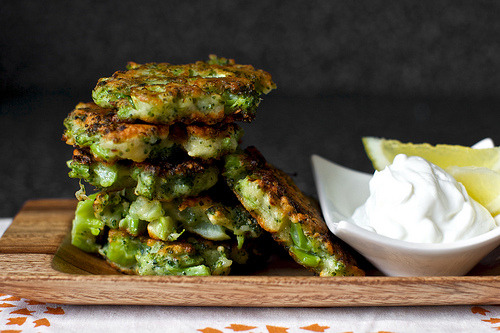 Recipe:  Broccoli Parmesan Fritters