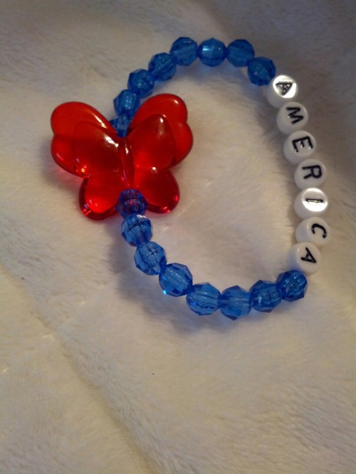 1 of 29 new $ 3 kids bracelets sold at my booth at the Ringgold Market on Saturdays.