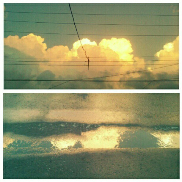 Las nubes en los charcos. (Taken with Instagram)