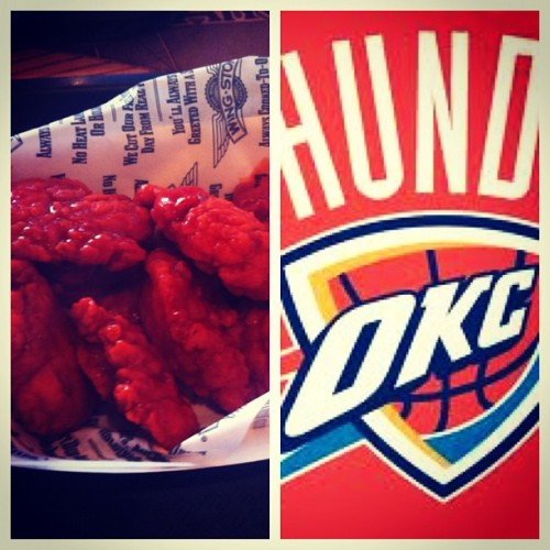 Yup it's happening. #GoOKC #ThunderUp #BeatTheHeat (Taken with Instagram)