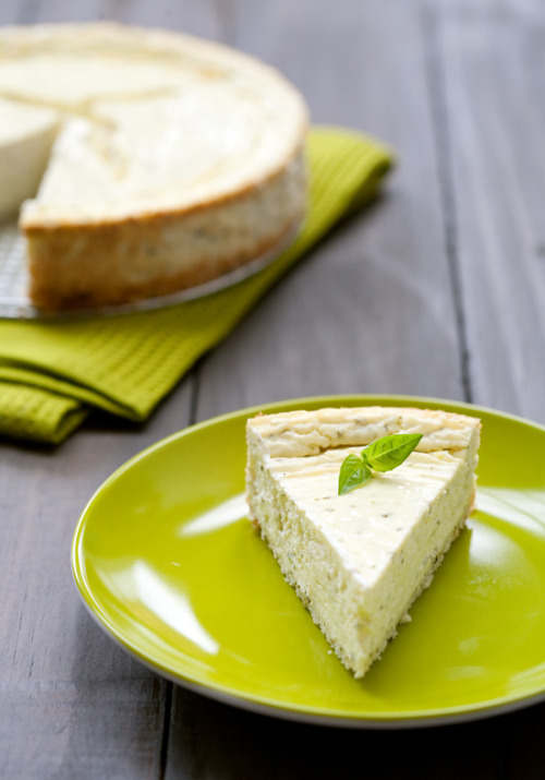 (via Savory Basil and Goat Cheese Cheesecake | Love and Olive Oil)