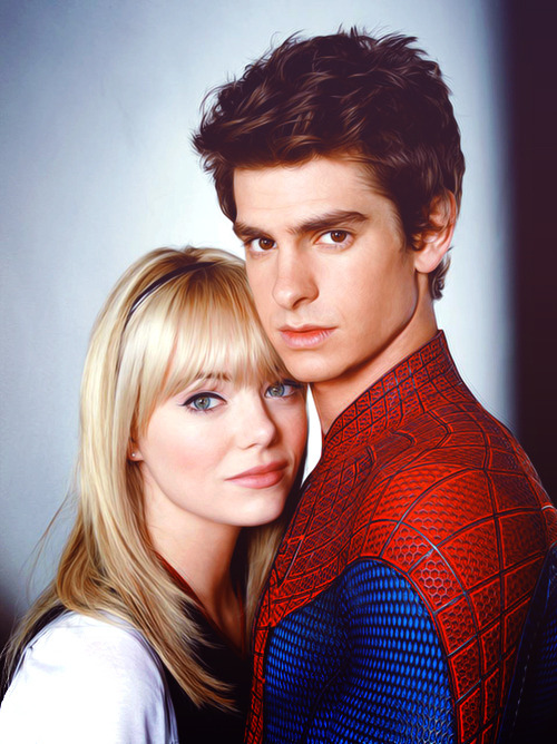 The Amazing Gwen Stacey!….and her boyfriend Spiderman lol