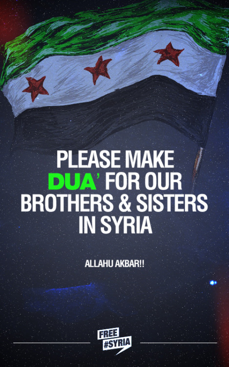 Make dua for Syria