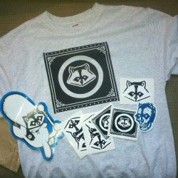 Thank you #JustOne for the #swag … #just1 #racoonstreetart #racoonGraffiti #Sticker #portland (Taken with Instagram)