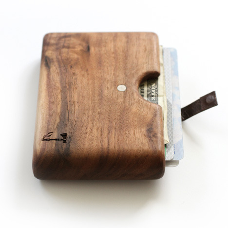 reclaimingcraft:  Dear Gods, I want one of these Slim Timber wallets like you wouldn't believe! I can't imagine a wallet better suited for craftspeople or anyone obsessed with materiality, like myself. It's also great to see a husband and wife team of makers producing such wonderful items. Goodbye leather. Hello full sustainability and absence of animal materials!