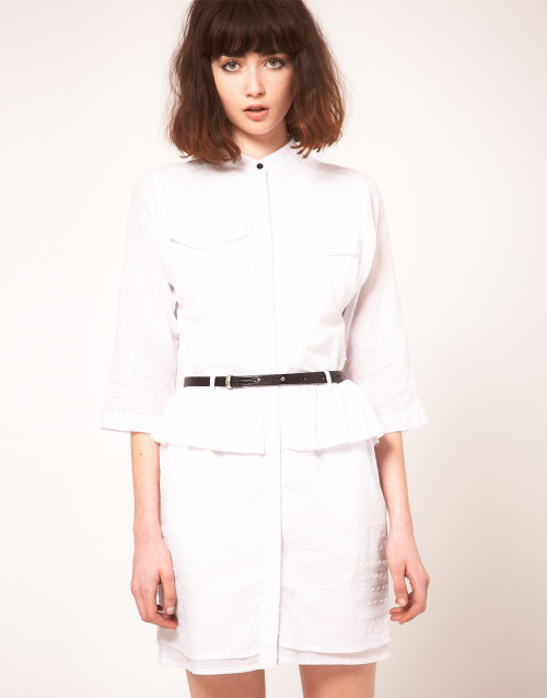 Antipodium Cotton Shirt Dress with Contrast Leather BeltMore photos & another fashion brands: bit.ly/LtrN3F